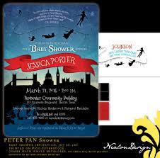 nealon design peter pan baby shower invitation