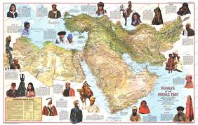 Africa Middle East Map by Map Showing The Various Ethnicities Of The Middle East 1500x785