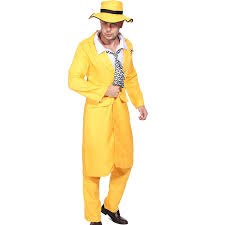 the mask costume 80s 90s yellow gangster zoot suit the mask jim carrey costume
