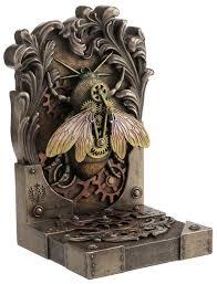 steambee steampunk bookend by brigid ashwood steampunk gifts