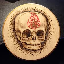 baby skull on wood by nataliaborgia on deviantart