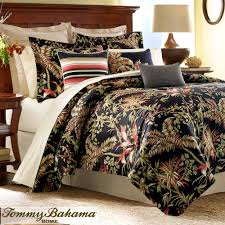 jungle drive black tropical comforter bedding by tommy bahama