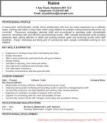 Software Testing Resume Samples by Resume Samples For Experienced Software Testing Professionals