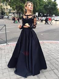 evening gown vintage bateau neck two lace evening dress tidebuy