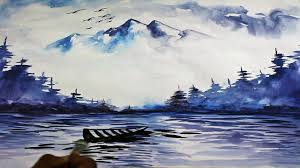 watercolor landscape painting drawing time lapse youtube