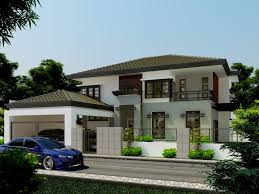 inspriational double storey residential house amazing