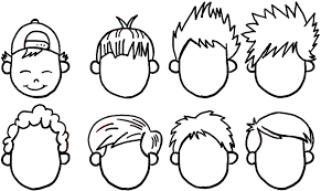 how to draw boys and mens hair styles for cartoon characters