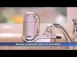 Pur Horizontal Faucet Mount Pur Faucet Mount Filtration System Youtube