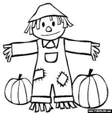 coloring pages exquisite scarecrow coloring pages free printable