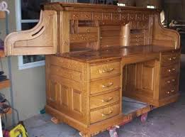 Small Oak Roll Top Desk Amish Oak And Cherry Home Office American Made Rustic Hickory Roll