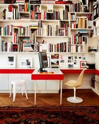 bureau bibliothèque intégré bibliothèque avec bureau et rangements intégrés salon