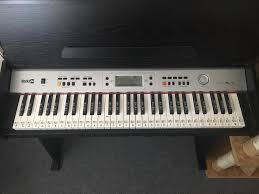 rockjam 818 electric keyboard with built in stand excellent
