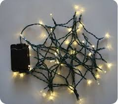 warm white 30 led lights 3m green cable battery operated