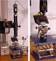 microscope fiber optic light source left imaging setup top down show camera microscope light guide