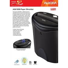 aurora personal shredder as618sb paper shredder office