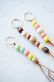 diy wooden bead keychain the sweetest occasion