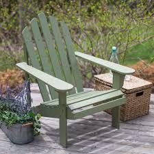 Adirondack Patio Chair Green Wood Adirondack Chair For Outdoor Patio Garden Deck