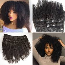 in extensions mongolian hair american afro curly hair clip in