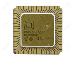 intel 286 series turbo 286 manufactured by amd stock photo