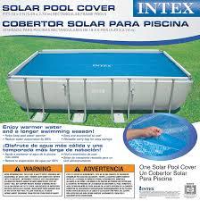 Intex Pool 14x42 Amazon Com Intex Solar Cover For 18ft X 9ft Rectangular Frame