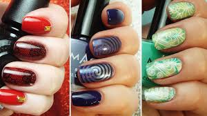 stamping nail art compilation easy designs step by step