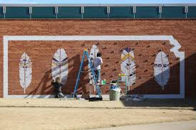 Wall Mural Shining Through The Vagabond Couple Make Mural Rock Wall For Medicine Lodge News