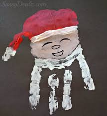 santa claus handprint craft for crafty morning