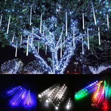 falling snowflake christmas lights 8 40 tubes led meteor shower icicle falling snowing christmas lights