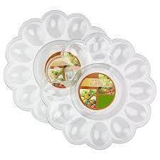 egg platter 2 pack plastic egg platter serving tray server plate great