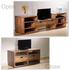 Wall Shelves Pepperfry by Induscraft Extendable Sheesham Wood Entertainment Unit Tv Units
