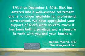 retirement announcement retirement announcement