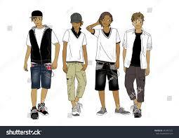 fashion sketch tshirt pants jeans design stock vector 347307272