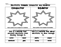 electricity foldable and venn diagram conductors and insulators