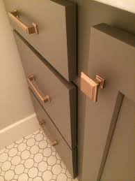 champagne bronze cabinet pull in kitchen cabinet hardware room