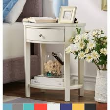 fillmore 1 drawer oval wood shelf accent end table by inspire q