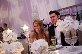 bride and groom sweetheart table white orchid sweetheart table fashionable hostess