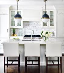 Black Pendant Lights For Kitchen White Kitchen With Cobalt Blue Pendant Lights Home Pinterest
