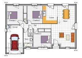 plan maison 3 chambres plain pied plan de maison gratuit 3 chambres frais plan maison plain pied