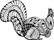 fish line art zentangle style for coloring book for tattoo