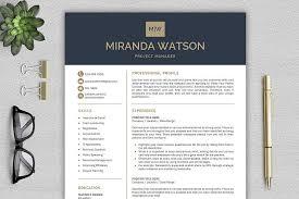 Professional Fonts For Resume Resume Template For Word Cv Template Design Bundles