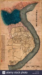 Map Of Shanghai China by Map Of Shanghai China With Foreign Concessions Circa 1884 Stock