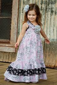 maxi dress for little girls sizes 2t to 10 pink dress girls