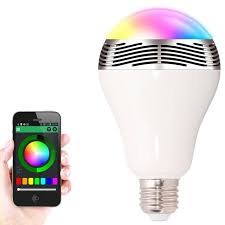 new smart light bulb e27 led rgb light wireless bluetooth led