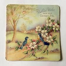 Birthday Wish Tree Vintage Bluebirds On A Blossom Tree Birthday Wishes Greeting Card