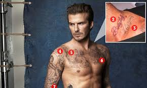 david beckham s 40 tattoos and the special meaning each