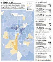 Denver Metro Zip Code Map by Where The Money Lives Scoring Affluence In 22 568 Zip Codes