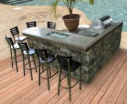 outdoor magnificent outdoor kitchen island in cream painted