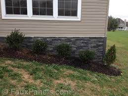 New Stone Veneer Panels For by Foundation Covering Ideas Creative Faux Panels