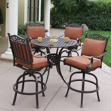 Bar Height Patio Set With Swivel Chairs Bar Height Patio Sets Wayfair
