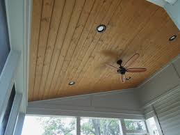 Wood Porch Ceiling Material by Partially Covered Wood Deck Northern Ky Area Progress Photos